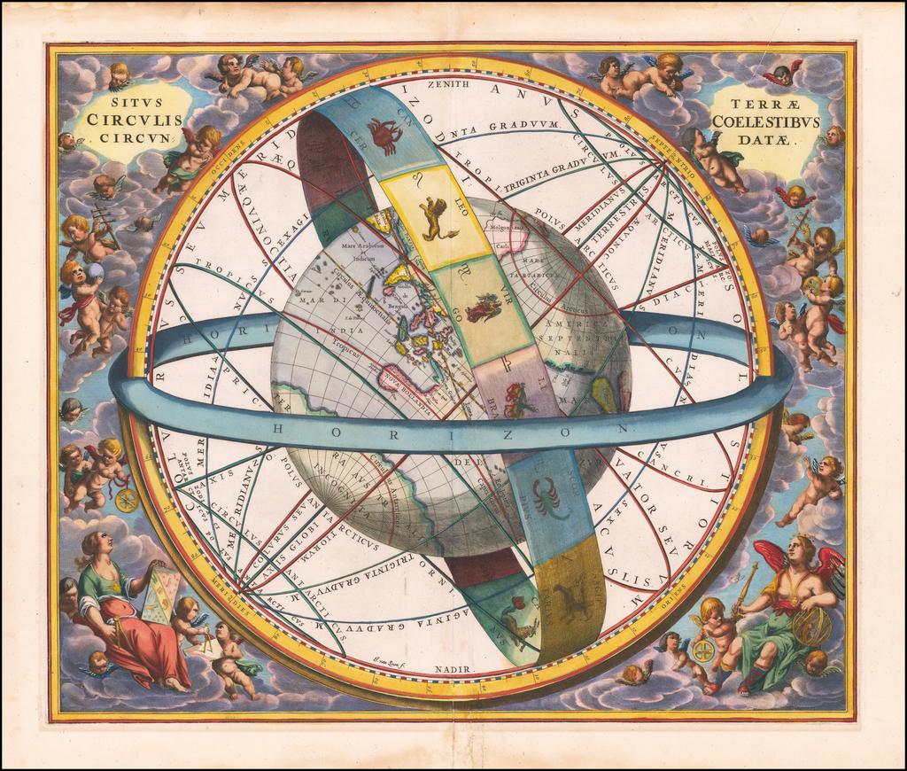 Situs Terrae Circulis Coelestibus Circundatae . . .  By Andreas Cellarius