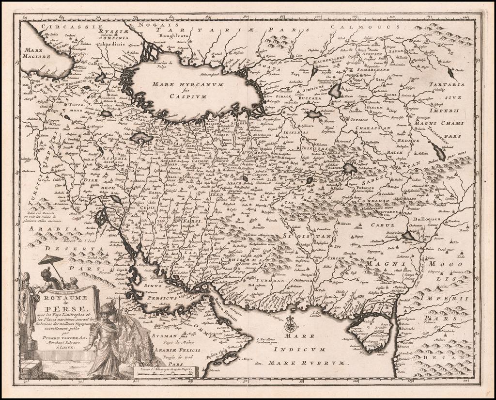 Royaume de Perse, avec les Pays Limitrophes et les Places maritimes, suivant les Relations des meilleurs Voyageurs nouvellement publie . . .  By Pieter van der Aa