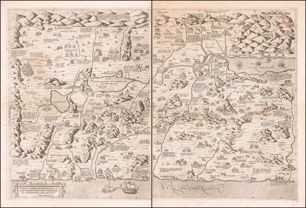 Totius Terre Promissionis a Danusque Bersabee Verissima et Amplissima Descriptio By Matteo Florimi