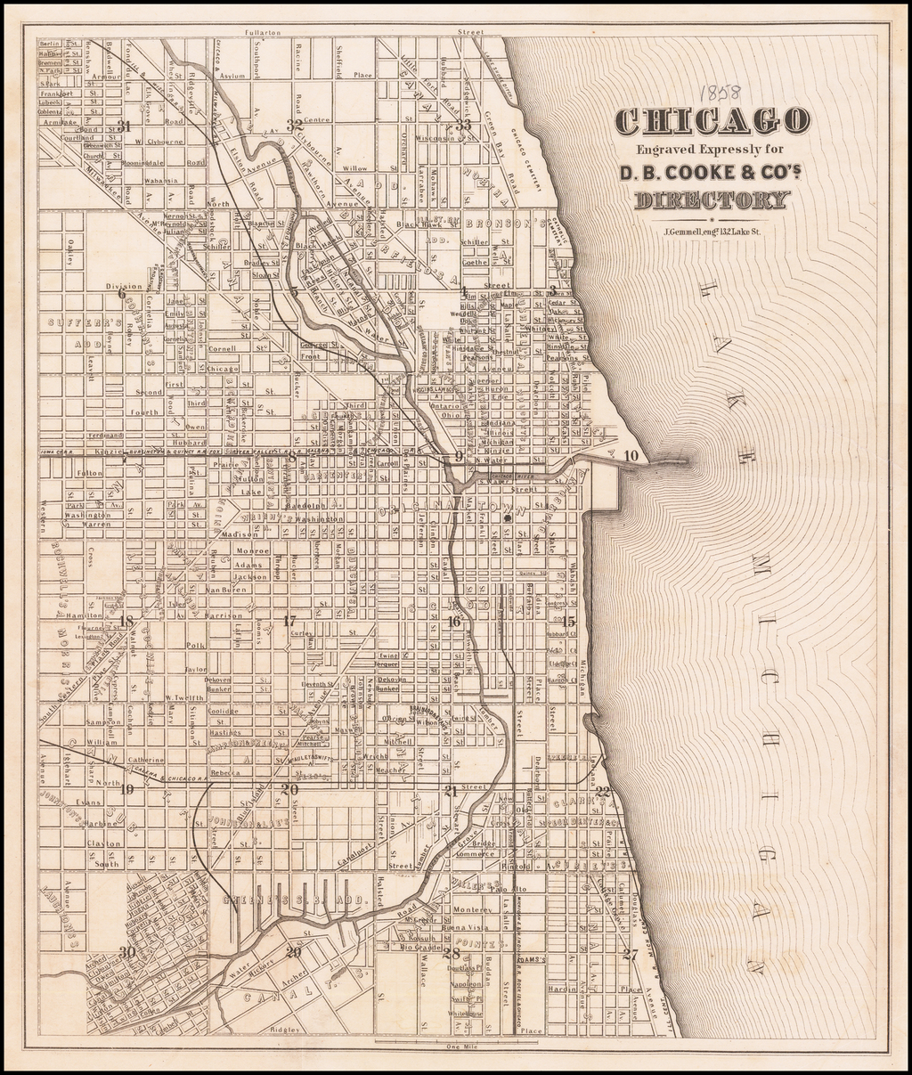 Chicago Engraved Expressly for D.B. Cooke & Co.'s Directory By D.B. Cooke & Co.