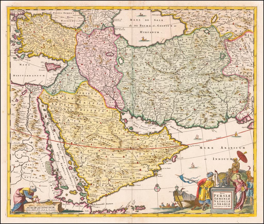 Nova Persiae Armeniae Natoliae et Arabiae   By Frederick De Wit
