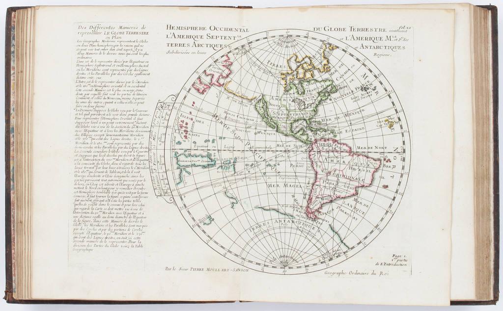 Introduction à la géographie en plusieurs cartes avec leur explication. By Pierre Moullart Sanson