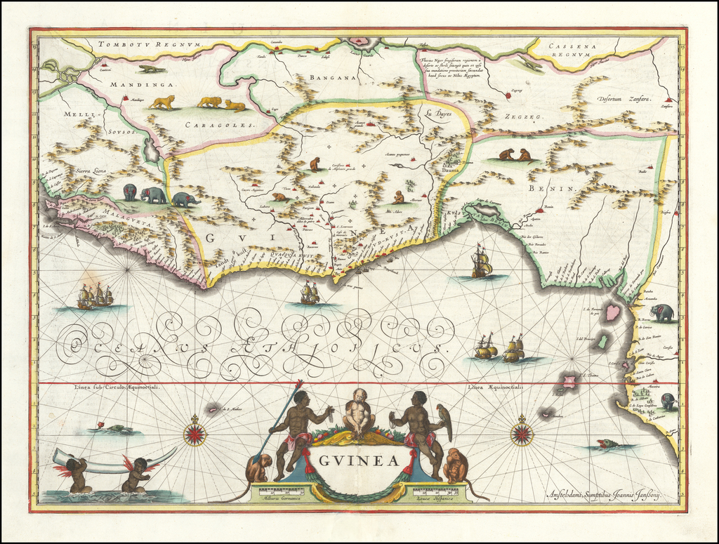 Guinea - Barry Lawrence Ruderman Antique Maps Inc. on