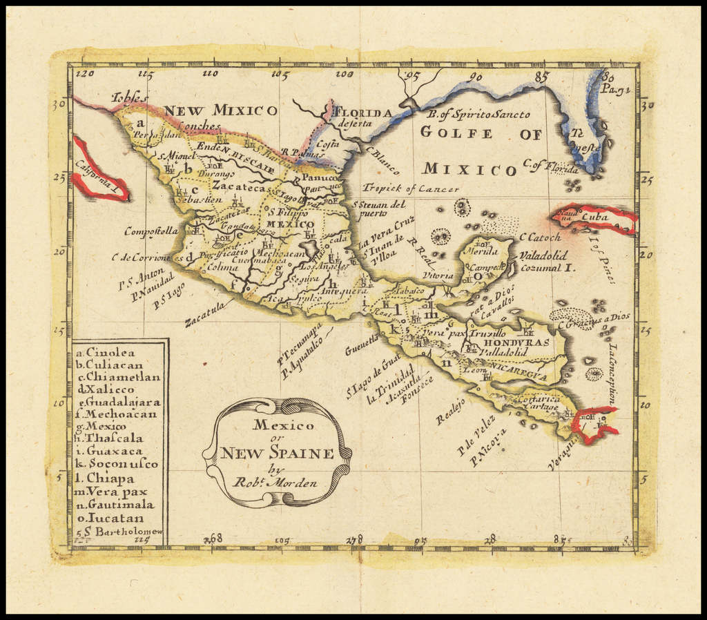 Mexico or New Spaine By Robert Morden