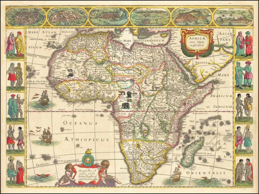 Africae nova Tabula . . . 1632 By Jodocus Hondius / Jan Jansson