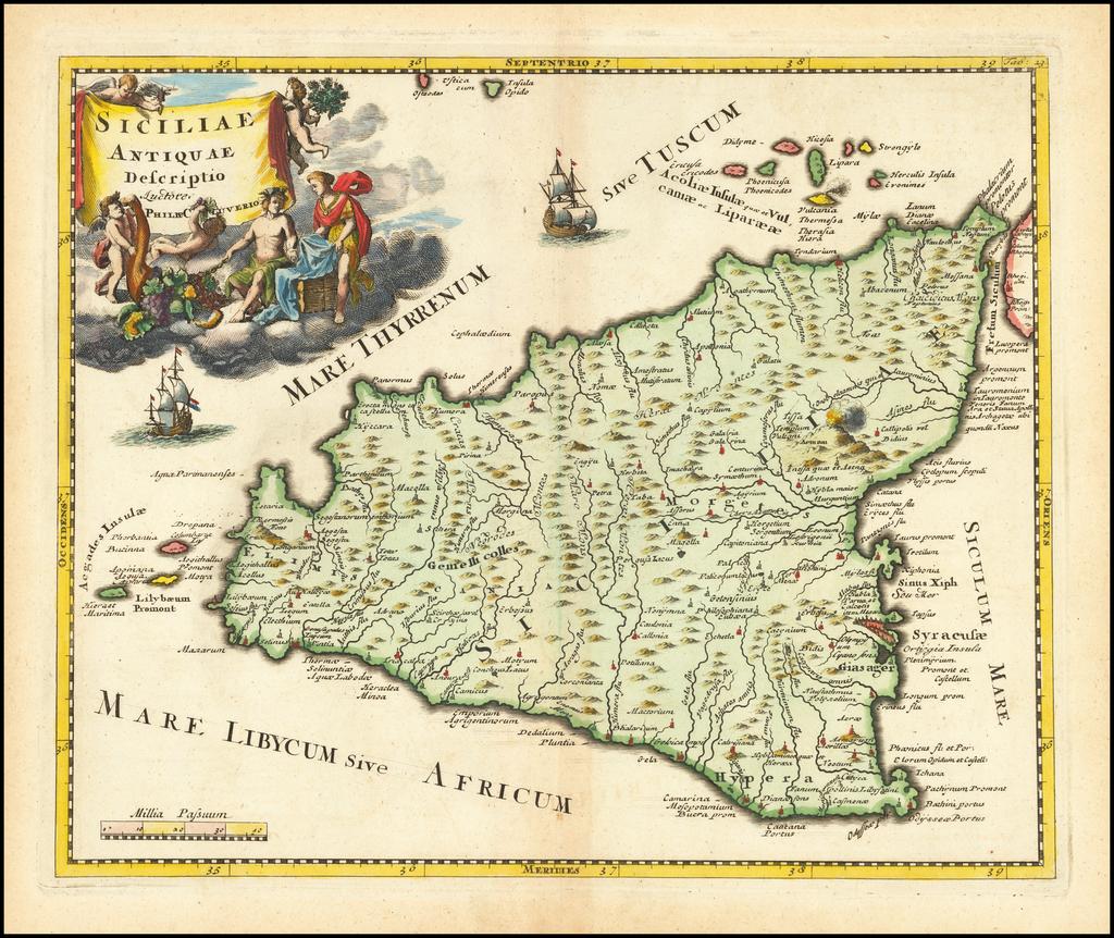 Siciliae Antiquae Descriptio By Philipp Clüver