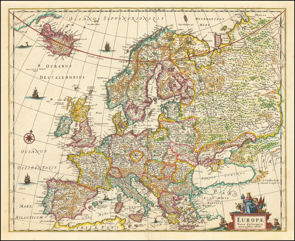 Europae Nova descriptio By Clement de Jonghe