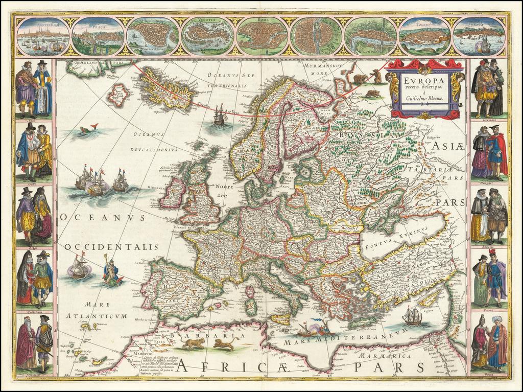 Europa recens descripta . . .  By Willem Janszoon Blaeu