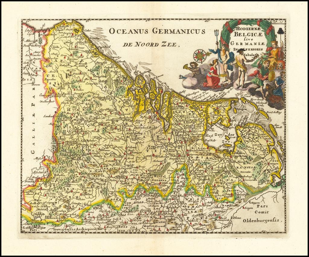 Hodiernae Belgicae sive Germaniae Inferioris Tabula By Philipp Clüver