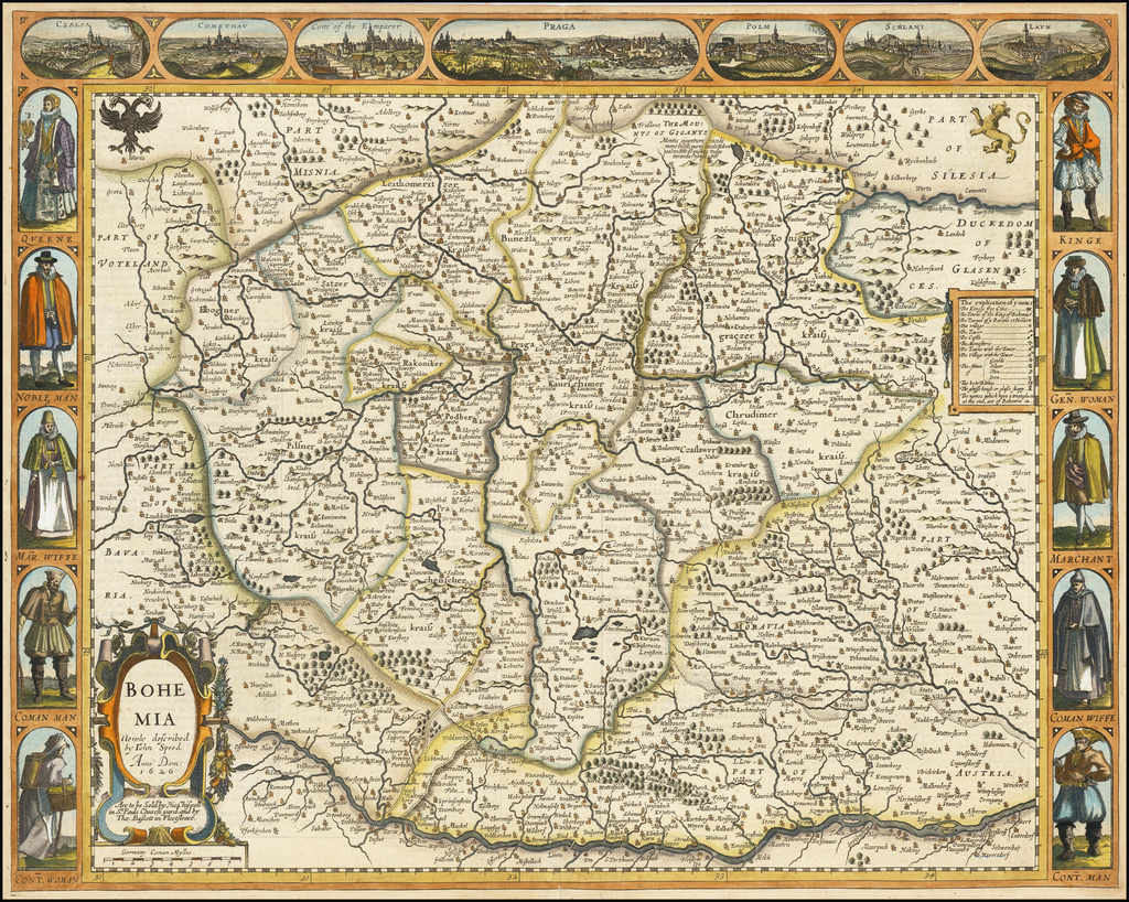 Bohemia Newly Described . . . Anno Dom: 1626 By John Speed