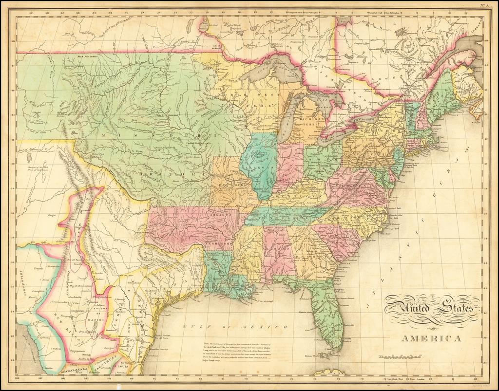 United States Of America By John Melish