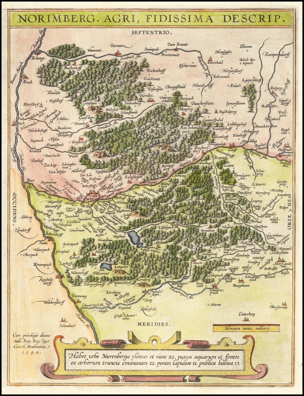 Norimberg Agri, Fidissima Descrip. By Abraham Ortelius