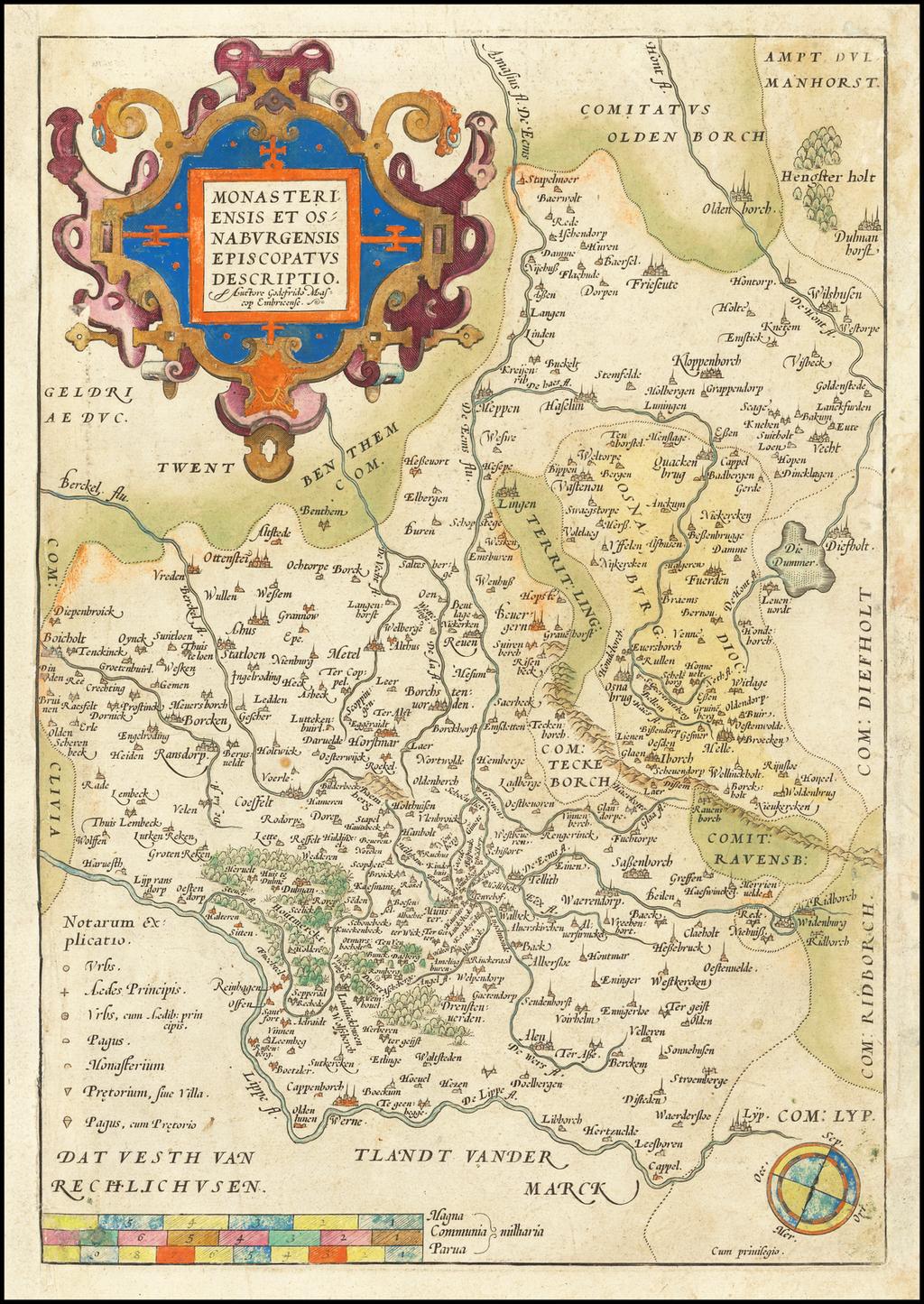 Monasteriensis Et Osnaburgensis Episcopatus Descriptio By Abraham Ortelius