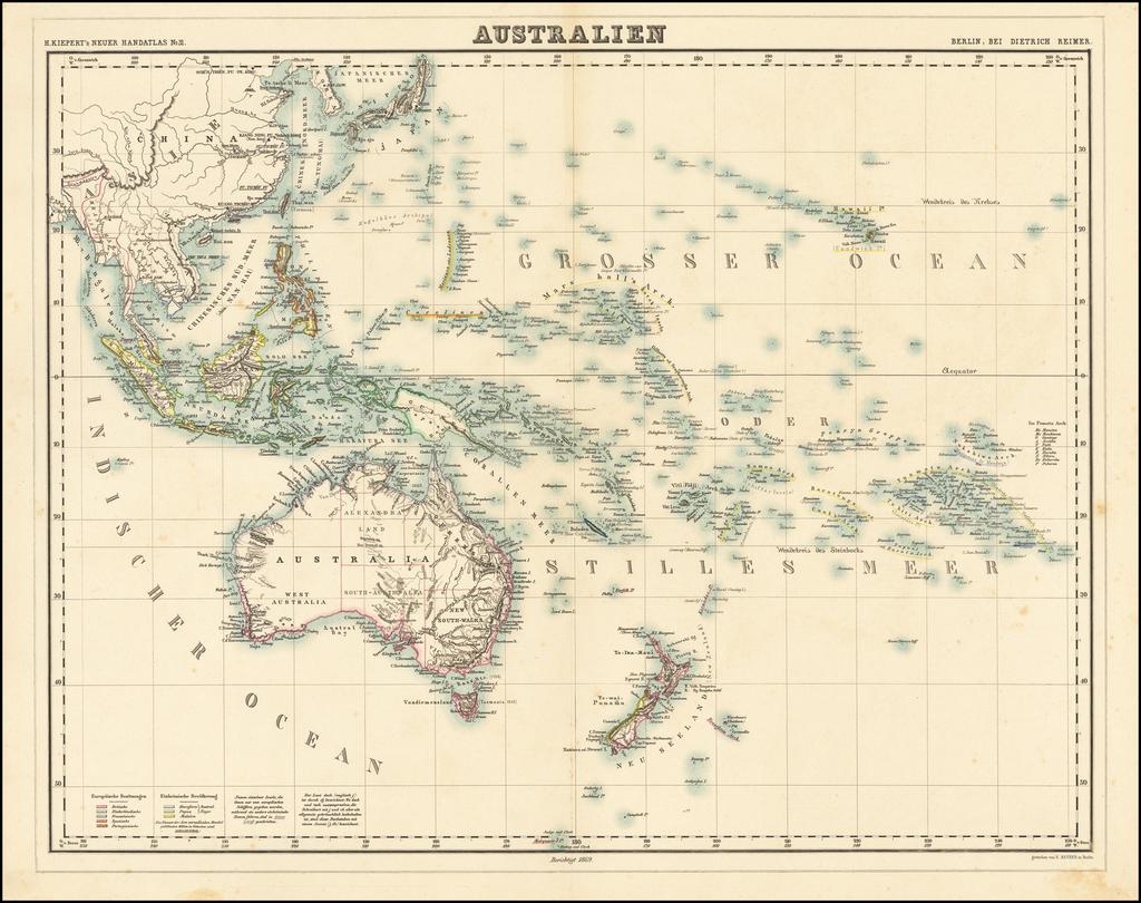 Australien By Heinrich Kiepert