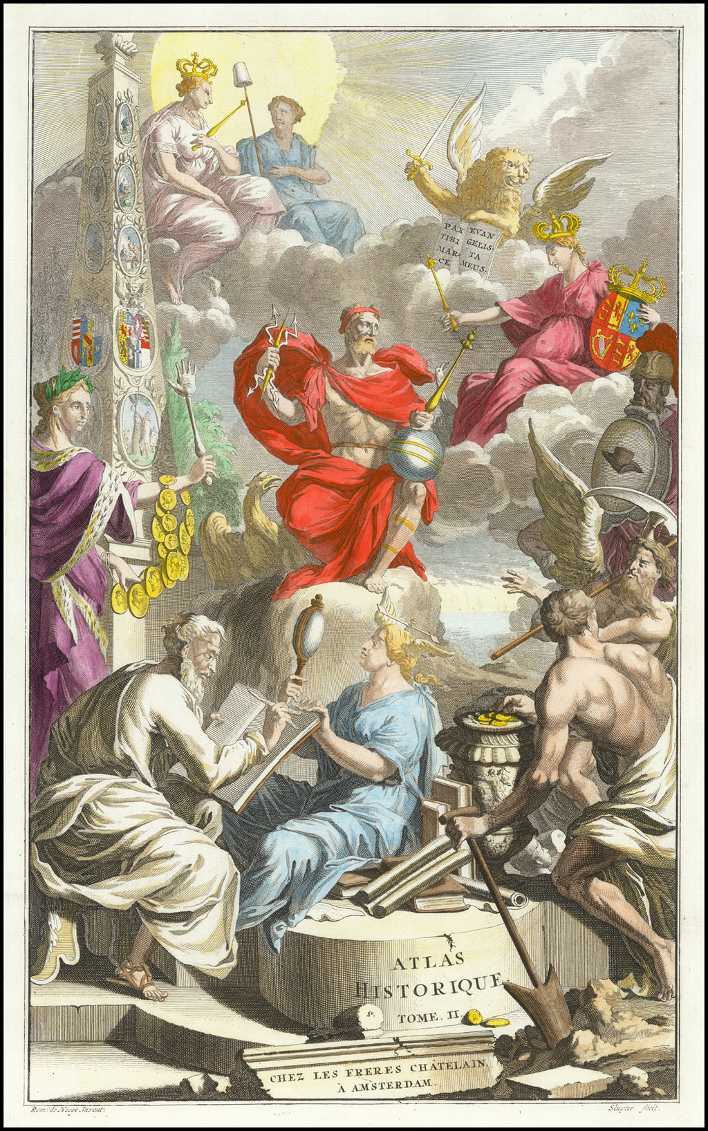 [Title Page] Atlas Historique  Tome. II By Henri Chatelain