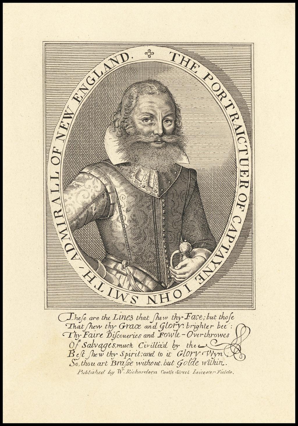 The Portraictuer Of Captayne Iohn Smith / Admiral Of New England. By Simone De Passe