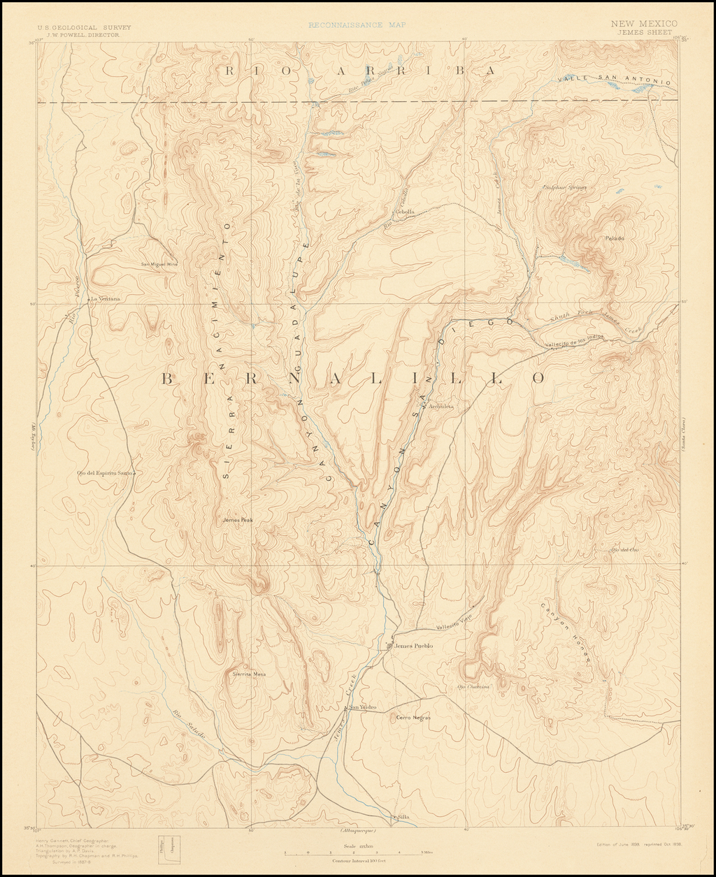 Reconnaissance Map - New Mexico Jemes Sheet By U.S. Geological Survey