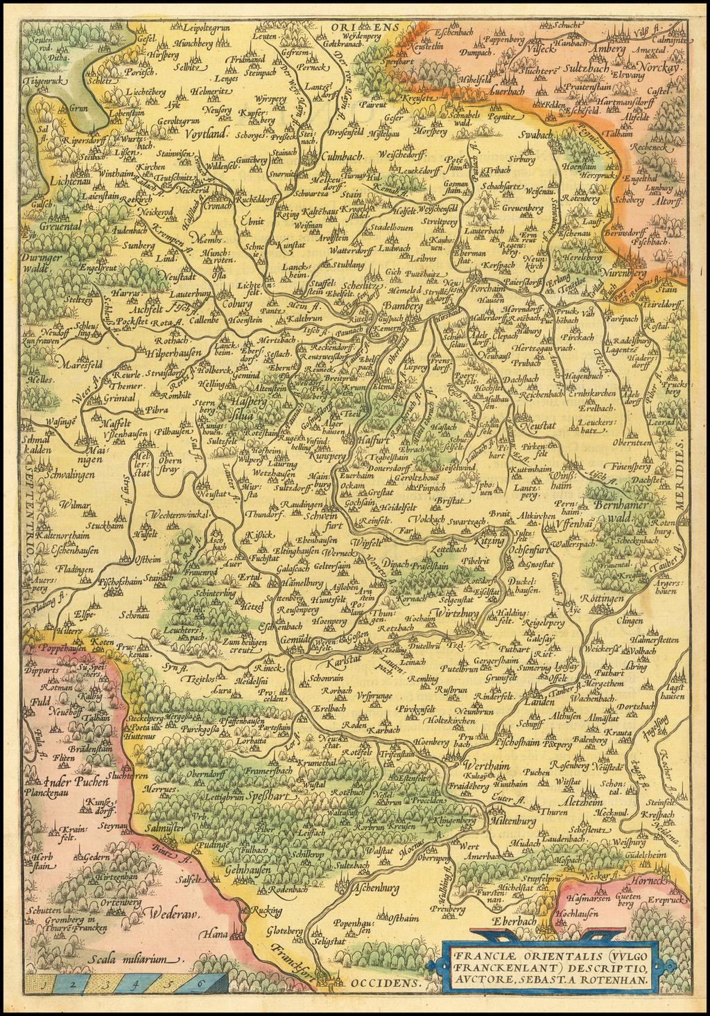 [Unrecorded Variant]  Franciae Orientalis (Vulgo Frankenlant) Descriptio By Abraham Ortelius