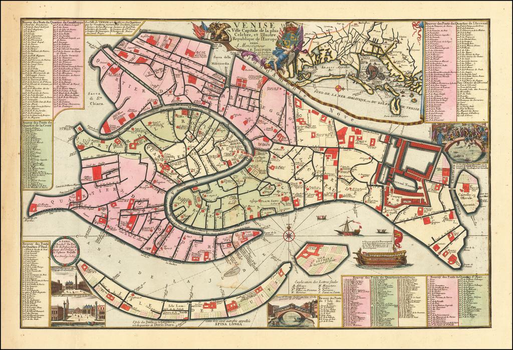 Venise Ville Capitale de la plus Celebre, et Illustre Republique de l'Europe . .  By Nicolas de Fer