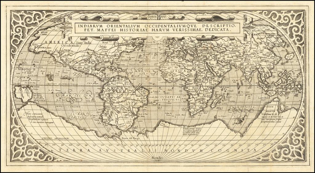 Indiarum Orientalium Occidentaliumque Descriptio, Pet Maffei Historiae Harum Verissimae, Dedicata By Peter Maffei