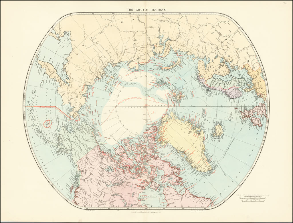 The Arctic Regions By Edward Stanford