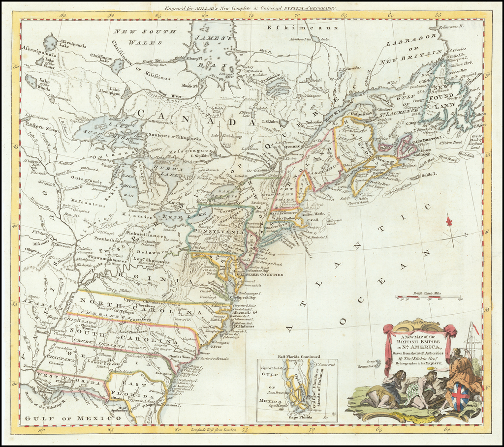 A New Map of the British Empire in Nth America Drawn from the Latest Authorities by Thos. Kitchin Geogr. Hydrographer to His Majesty By Thomas Kitchin