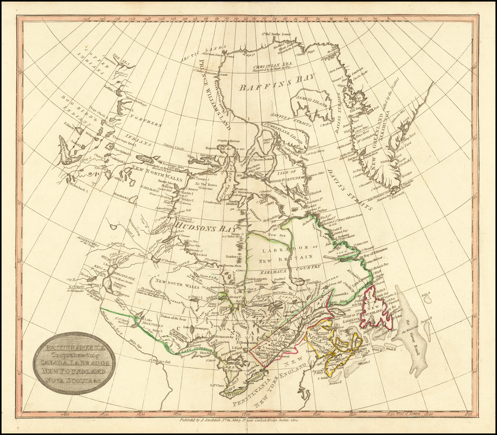 British America Comprehending Canada Labrador New Foundland Nova Scotia &c. By John Stockdale
