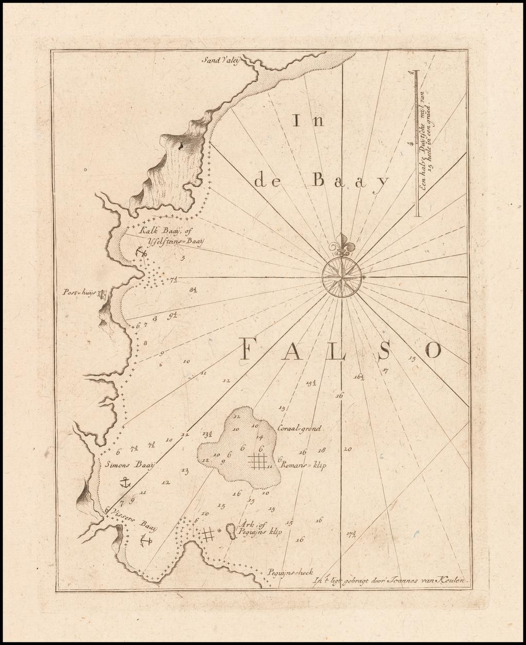[False Bay]  n de Baay Falso By Johannes II Van Keulen