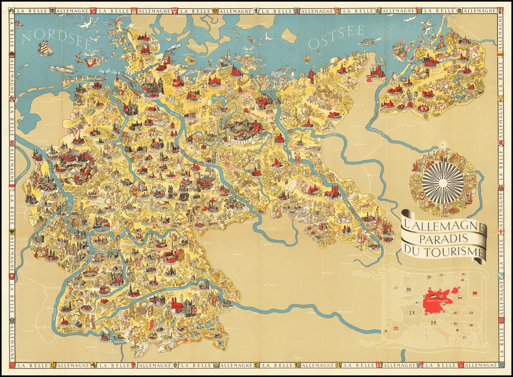 (Second World War - Nazi Germany) L'Allemagne Paradis du Tourisme. [Germany The Paradise of Tourism.] By Riemer