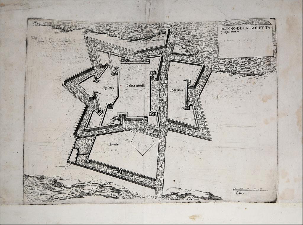 Disegno De La Goletta con le sue misure By Antonio Lafreri