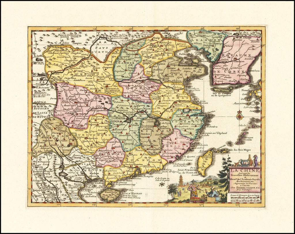 La Chine, Suivant les Nouvelles Observations . . .  By Pieter van der Aa