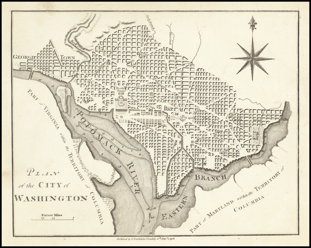 Plan of the City of Washington By John Stockdale