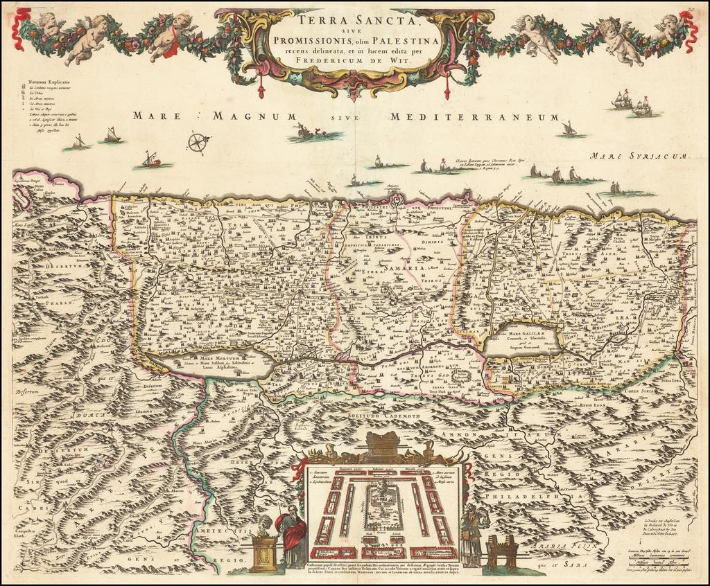 Terra Sancta, sive Promissionis, olim Palestina recens delineata, et in lucem edita per Fredericum De Wit By Frederick De Wit