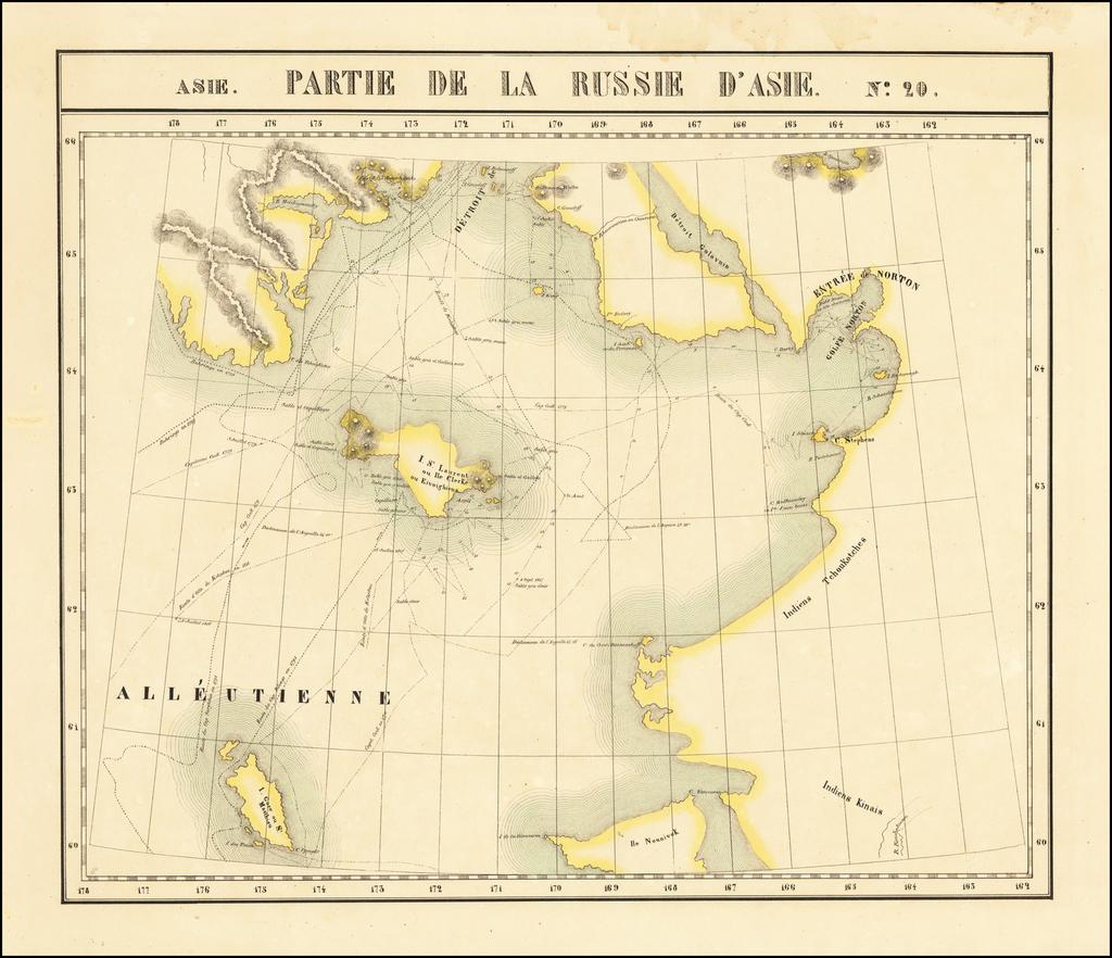 [Yukon, Nome, Bering Straits, etc.] Partie De La Russie D'Asie No. 20 By Philippe Marie Vandermaelen
