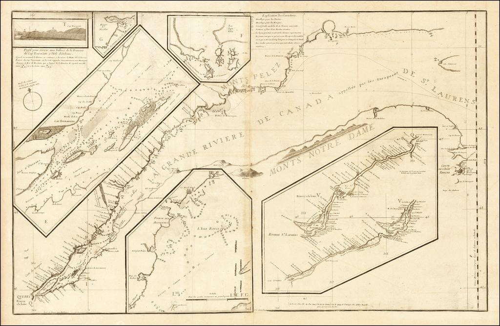 La Grande Riviere De Canada appellee par les Europeens De St. Laurens By Jean Deshayes