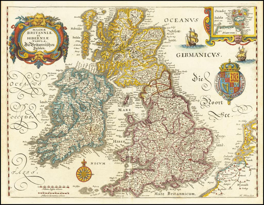 Magnae Britanniae et Hiberniae Tabula . . . . By Matthaus Merian
