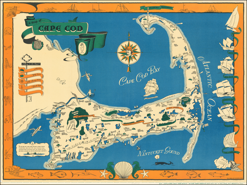 A Map of Cape Cod By Paul Paige