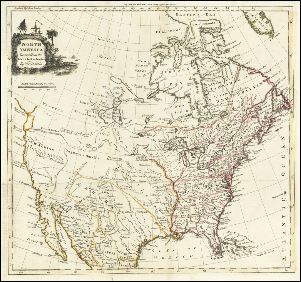 North America Drawn from the latest & best authorities . . .  By Thomas Kitchin