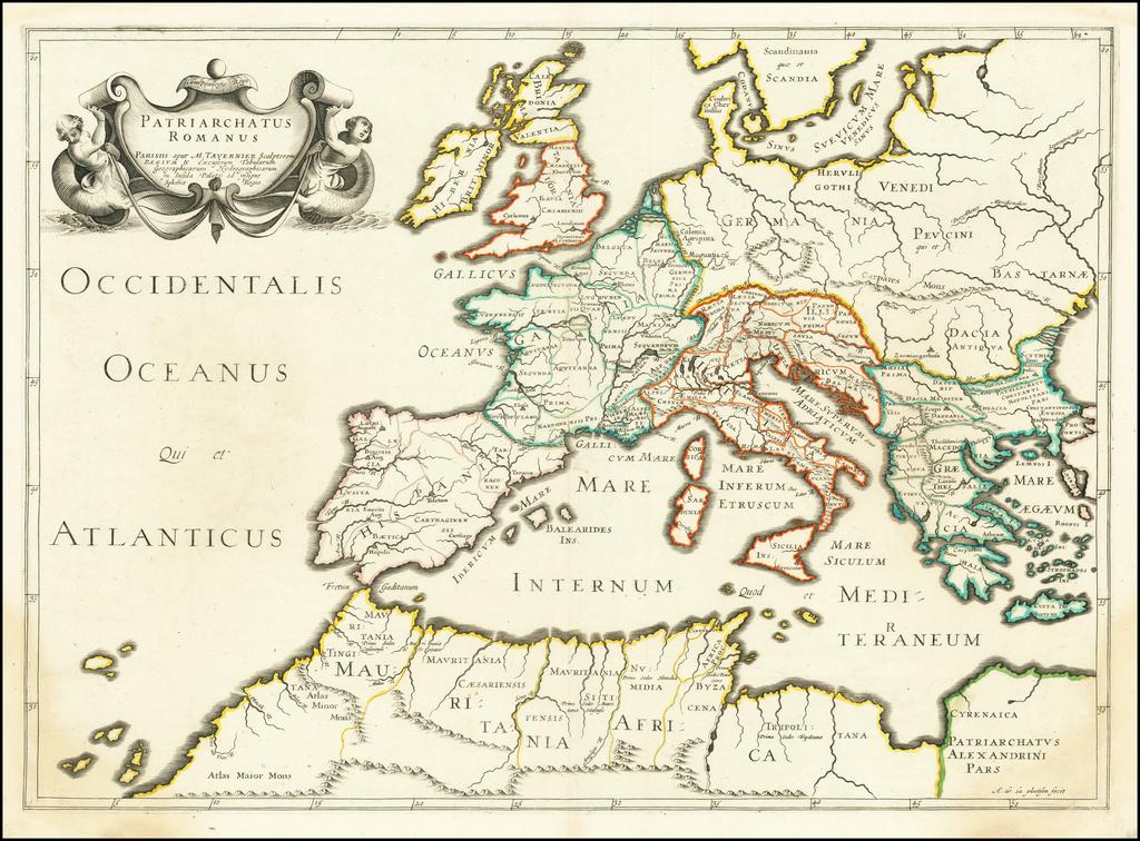 [Roman Europe] Patriarchatus Romanus . . . . By Melchior Tavernier