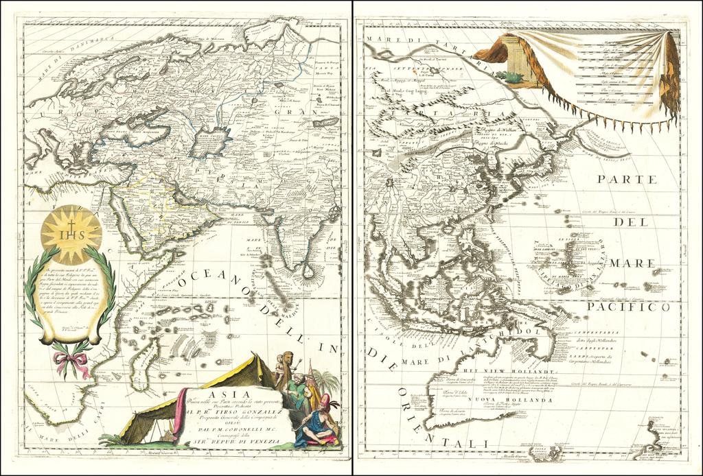 Asia Divisa nelle sue Parti secondo lo stato presente  By Vincenzo Maria Coronelli