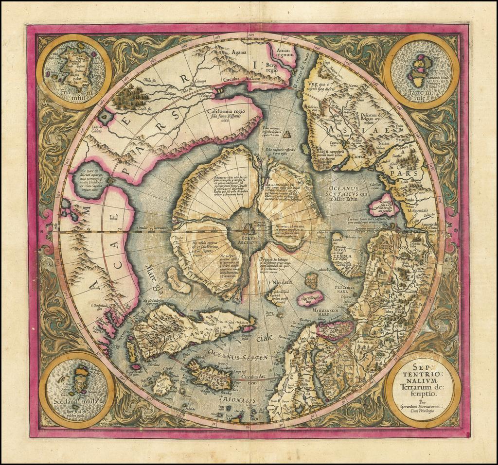Septentrionalium Terrarum descriptio By Gerard Mercator