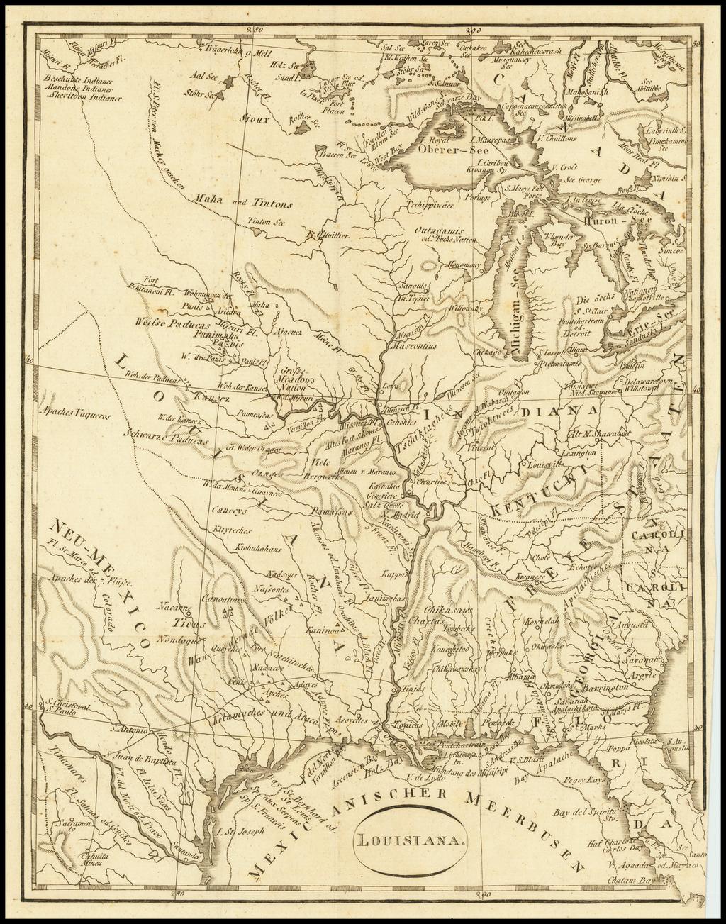 Louisiana (Louisiana Territory) By T.F. Ehrmann