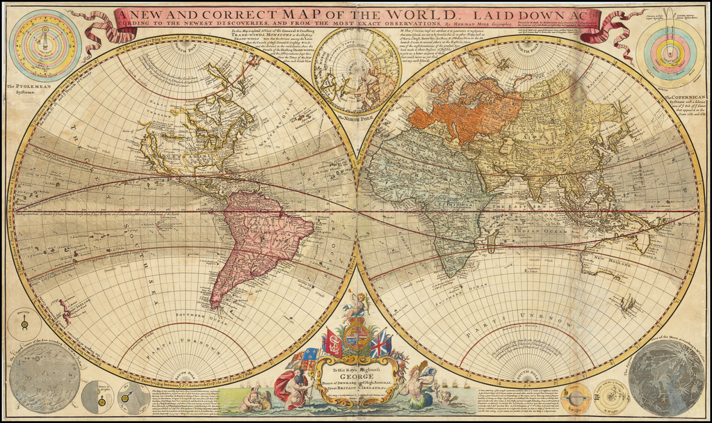 A New and Correct Map of the World Laid Down According to ...