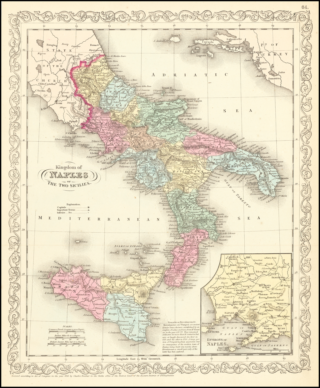 Kingdom of Naples or The Two Sicilies By Charles Desilver