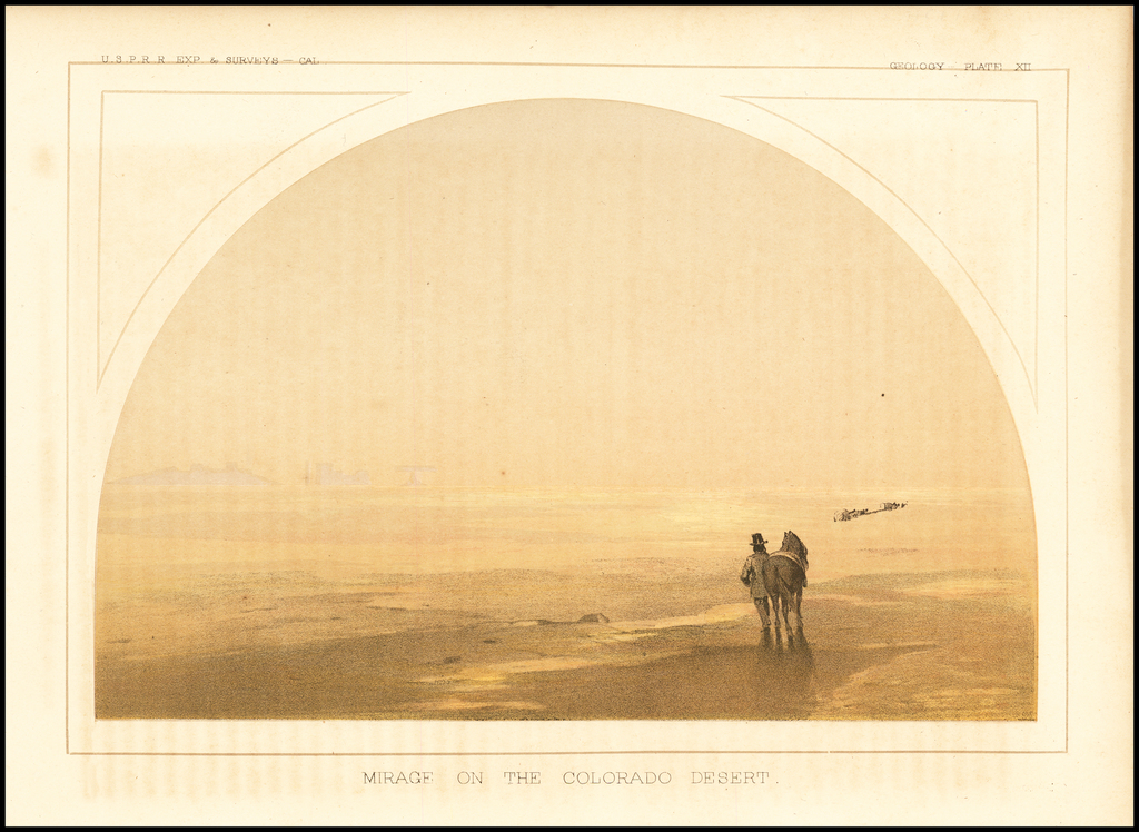 Mirage on the Colorado Desert By U.S. Pacific RR Surveys