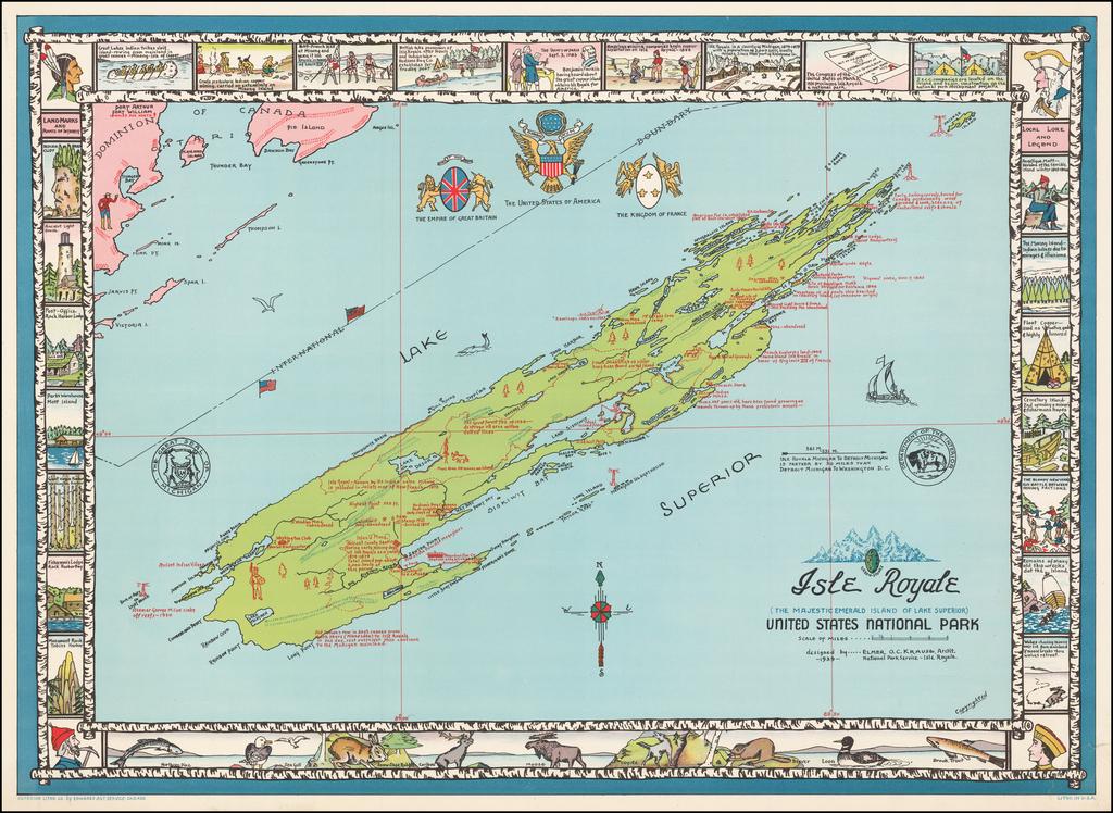 Isle Royale (The Majestic Emerald Island of Lake Superior) United States National Park By Elmer O.C. Krause