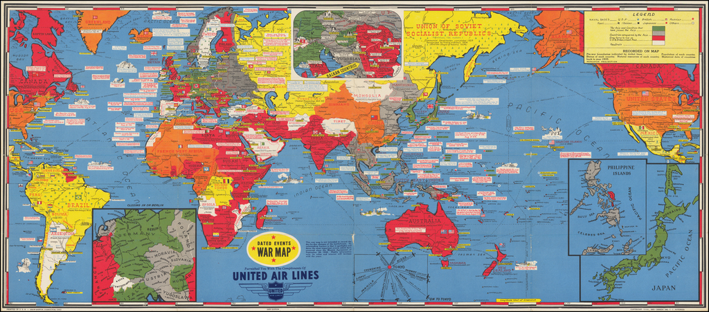 [World]  Dated Events War Map . . . 22nd Edition By Stanley Turner