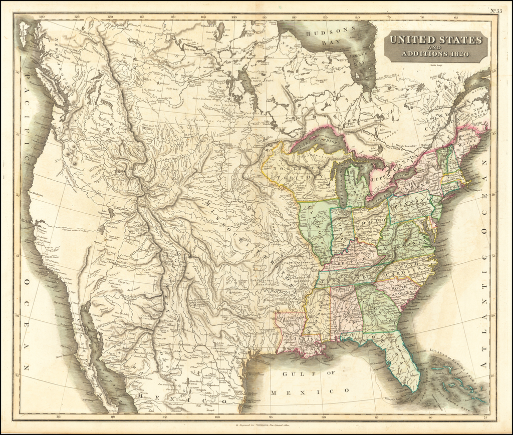 United States and Additions.  1820 By John Thomson
