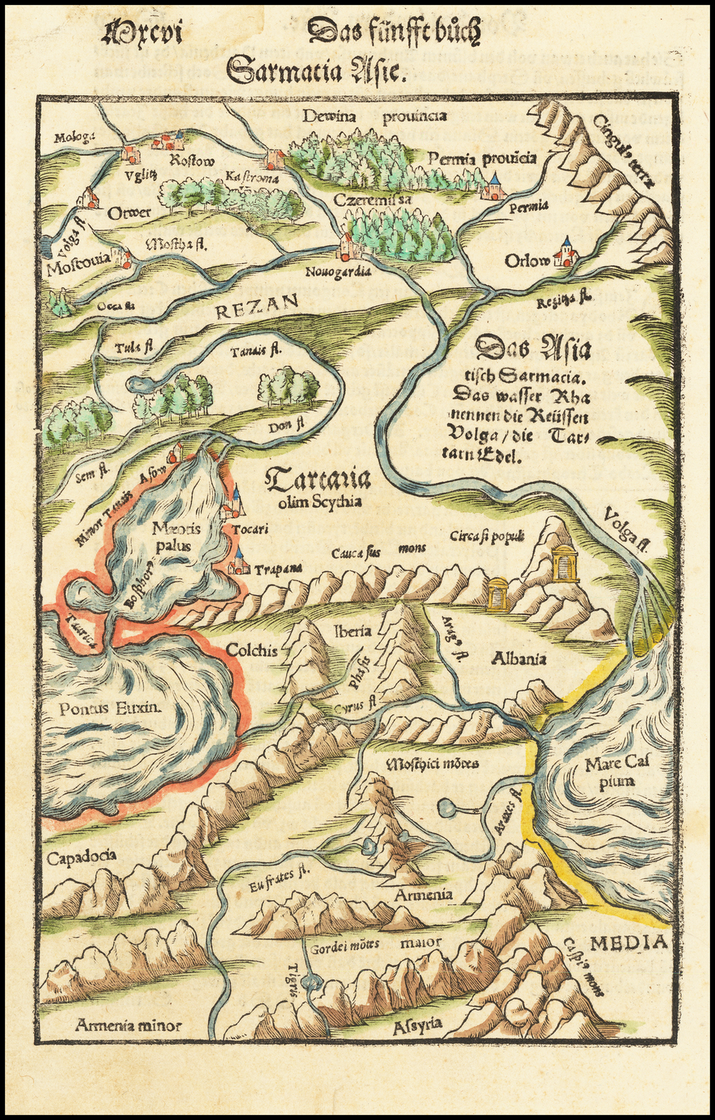 Tartaria olim Scythia By Sebastian Münster