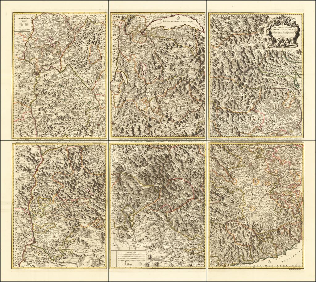 Theatre de la Guerre en Savoye et en Piemont -- Le Dauphine, La Bresse Partie du Lionnois et de La Provence By Pieter Mortier